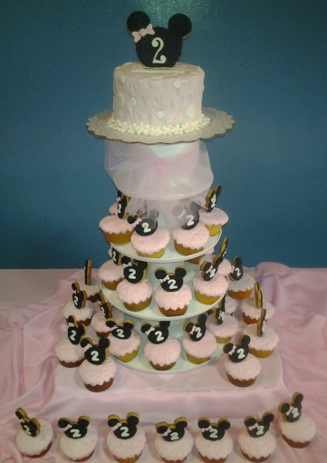 Torre cupcakes Minnie Mouse